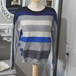 DF wool and cashmere stripped sweater
